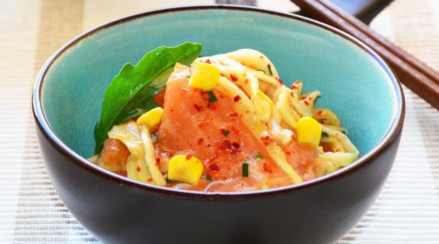 Ensalada de salmón e hinojo marinados