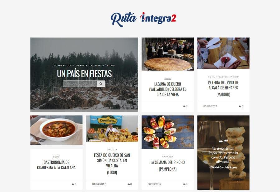 Ruta Integra2, buscador de festejos gastronómicos