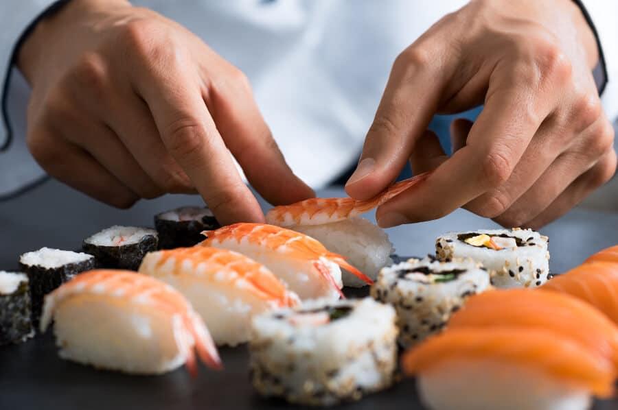 Haciendo sushi al estilo occidental