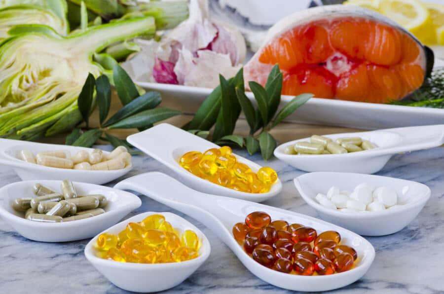 comida y suplemento alimenticios