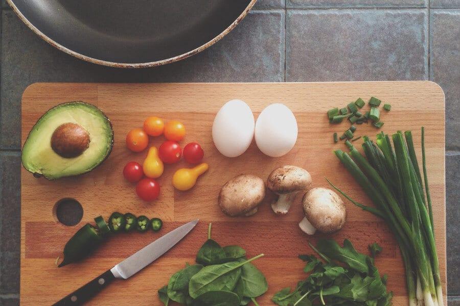 preparando materiales para post en blog de cocina
