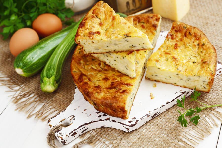 receta de pastel de calabacin y queso parmesano
