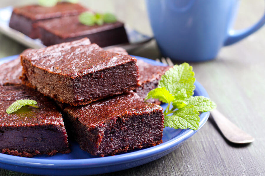 Brownies de chocolate y calabaza