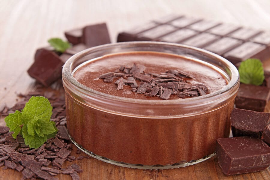 mousse de chocolate