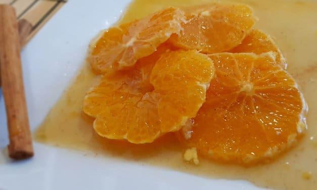 Naranjas con canela y miel [receta fácil y rápida]