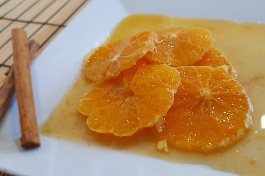 naranjas con miel y canela, receta fácil y rápida
