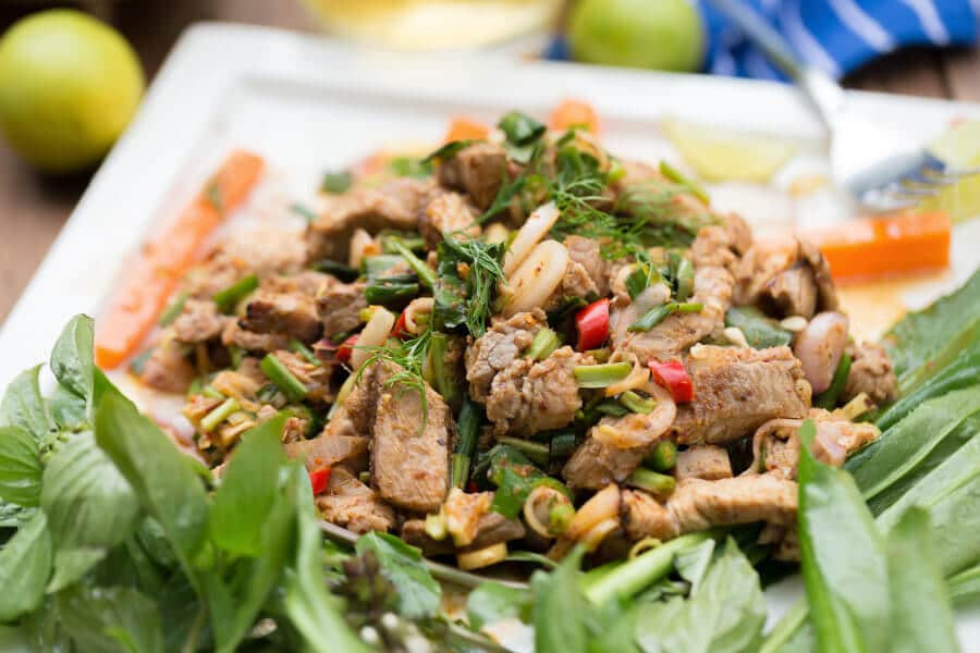 ensalada tailandesa de ternera receta