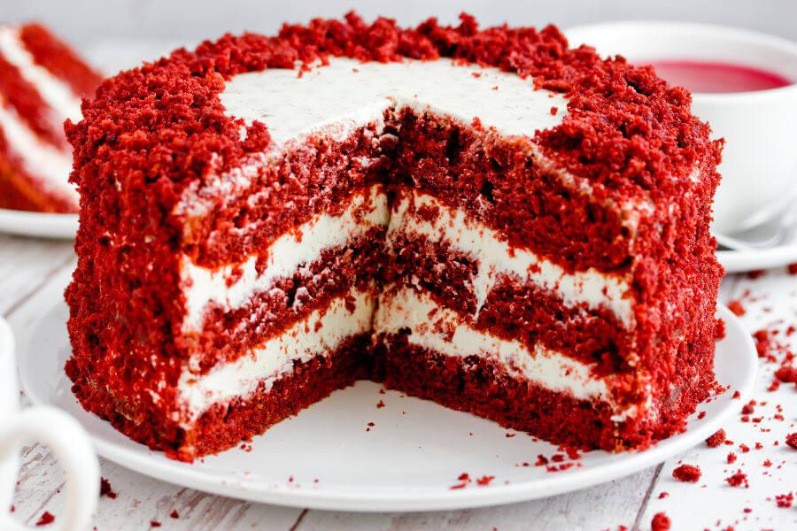 red velvet cake: tarta terciopelo rojo -  receta
