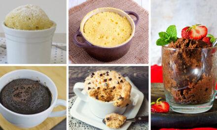 5 recetas fáciles y rápidas de bizcochos caseros para hacer en el microondas